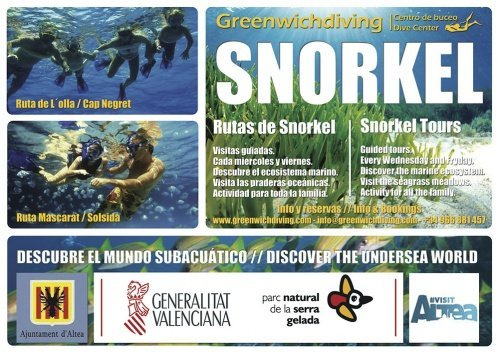 Rutas de snorkel en Altea