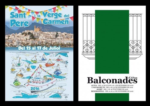 The Balconades d'Altea and the festivity of San Pedro and the Virgen del Carmen are the stars this week